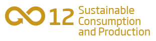 An image of the 12th Sustainability Goal, 'Sustainable and Consumption and Production'