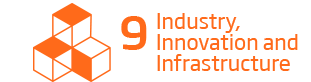 An image of the 9th Sustainability Goal, 'Industry Innovation and Infrastructure'